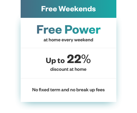 Free power at home every weekend
