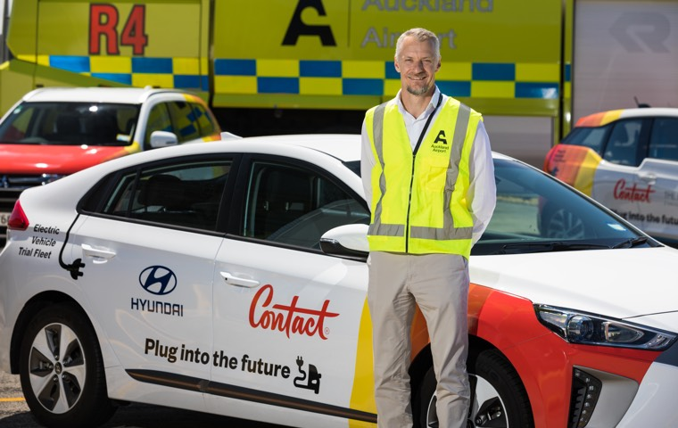 EV partnership Contact and Auckland Airport